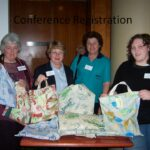 Conference Registration @ Melbourne AGM & conference 2006 with Gloria Jones, Anne Whalley, Tania Adams (Board members) & Di Wills Qld Member assisting.