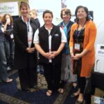 Dona, Fiona, Mary, Maria at Seafood Directions 2010 - Thankyou to Ocean allowing us to share a spot.
