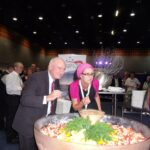 Australia's largest Prawn Cocktail at Seafood Directions 2011 with WINSC member Helen Jenkins